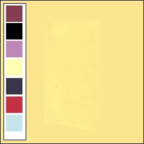 Linnenkarton - Oplegkaartjes - Licht geel
