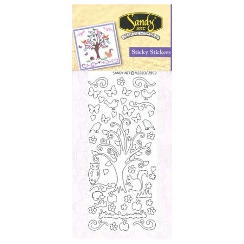 Sandy Art® Sticky Stickers full of life tree