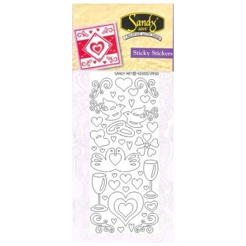 Sandy Art® Sticky Stickers love