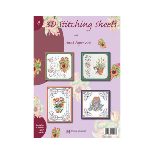 Ann`s Paper Art 3D Stitching Sheets Booklet 8