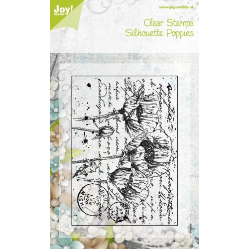 Joy! Crafts Clear Stamps Silhouette Poppies #JAN14