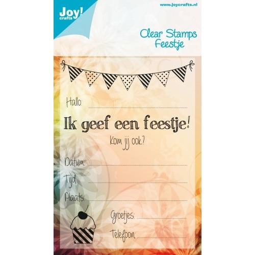 Joy! Crafts Stempel - kinder uitnodiging #JAN14