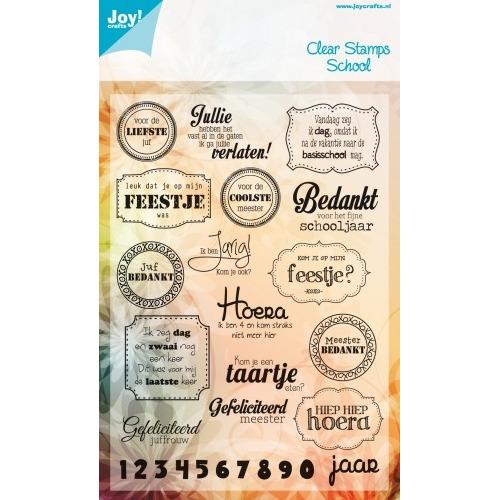 Joy! Crafts Stempel tekst NL - voor de liefste juf #JAN14