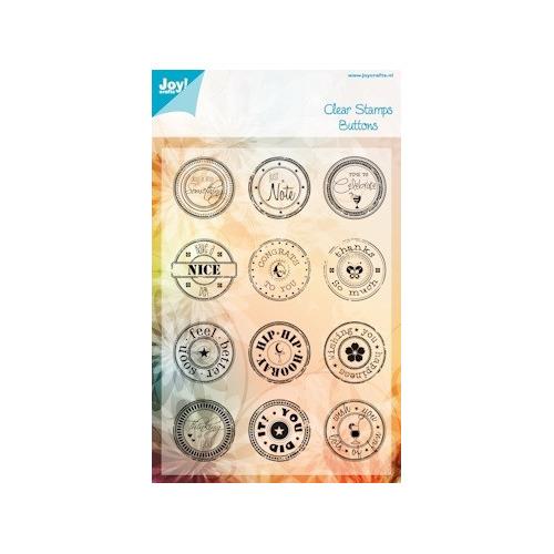 Joy! stempel buttons ENG #APR14