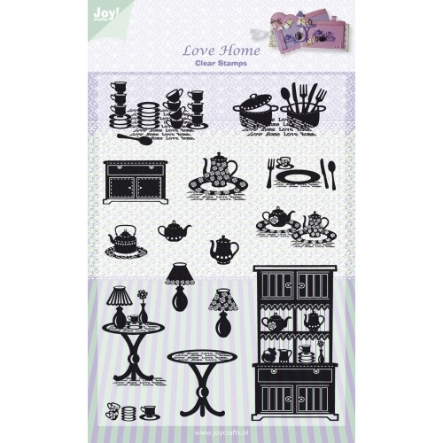 Clear stamps - Love home