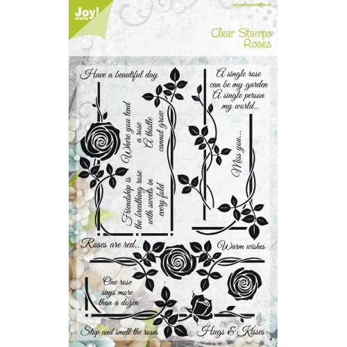 Clear stamps - Roses - have a beautiful day