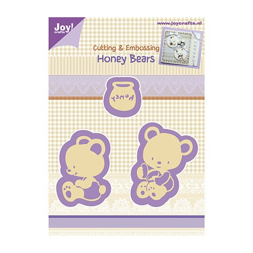 Cutting & Embossing stencil - Honey Bears (3st)