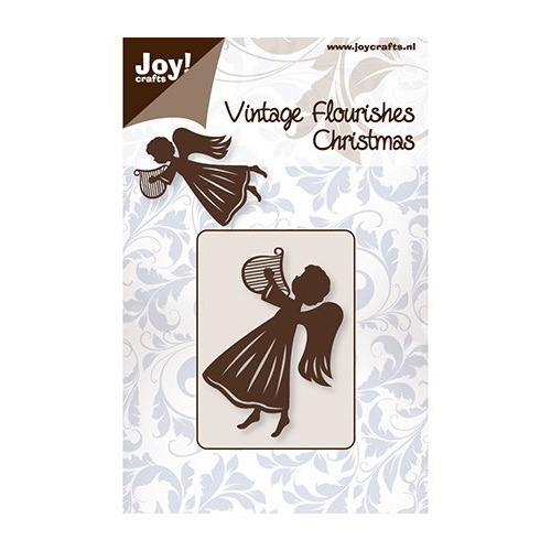 Cutting stencil - Vintage Flourishes - Engel met harp