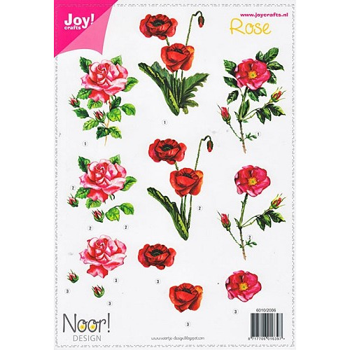 Joy! knipvel A4 bloemen