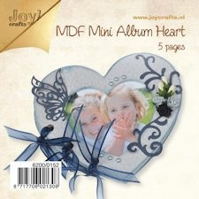 Joy! MDF boekje hart 15x13 cm #NOV13