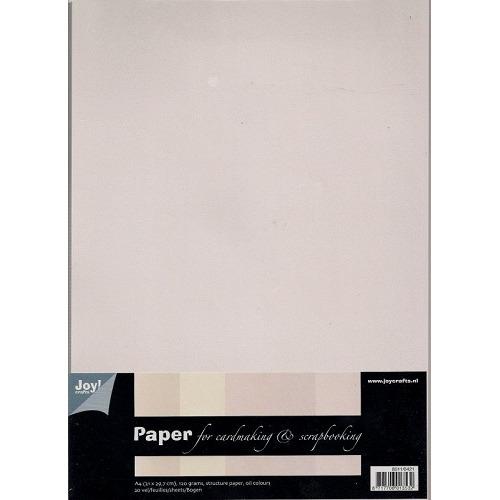 Papierset A4 olie-tinten, 1 design / 5 kleuren