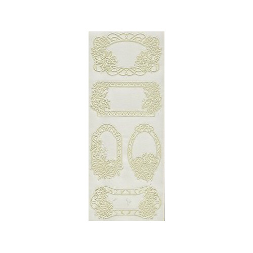 Joy! Pearl Frame stickers 7  zilver