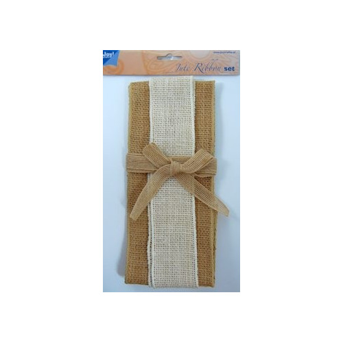 Joy! jute ribbon set naturel-ivory-naturel #OKT13