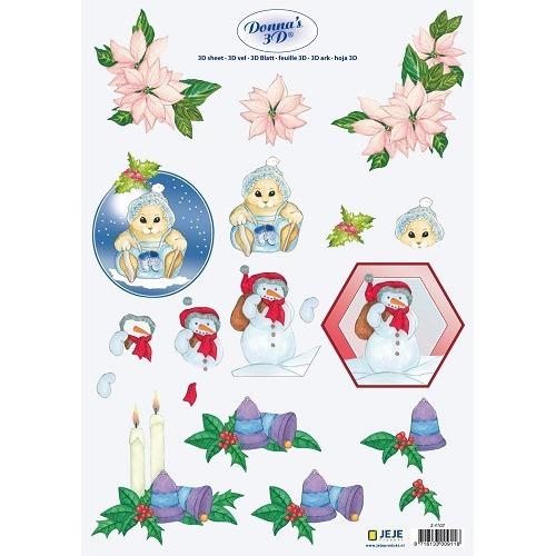 Donna`s 3D sheet A4 Christmas
