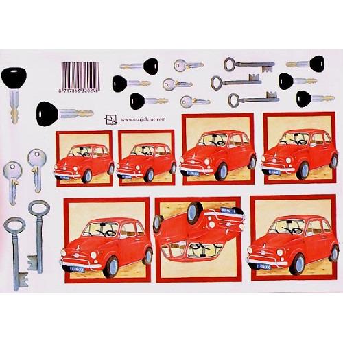Marjoleine knipvel 75 rood autootje