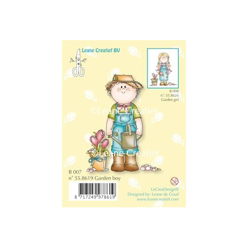 Clear stamp Bambini garden boy #JAN13