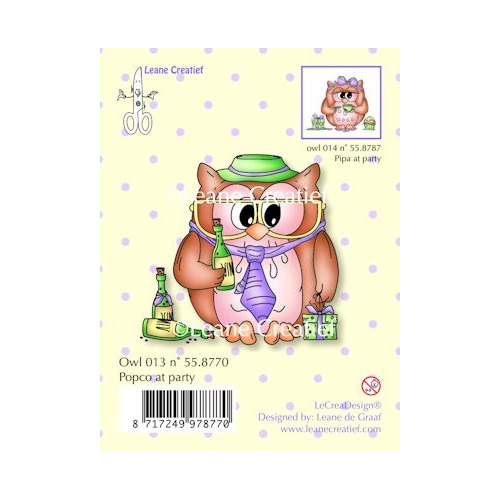 Clear stamp Owl Popco at party