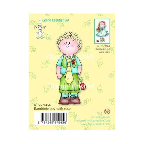Clear stamp Bambinie boy with rose