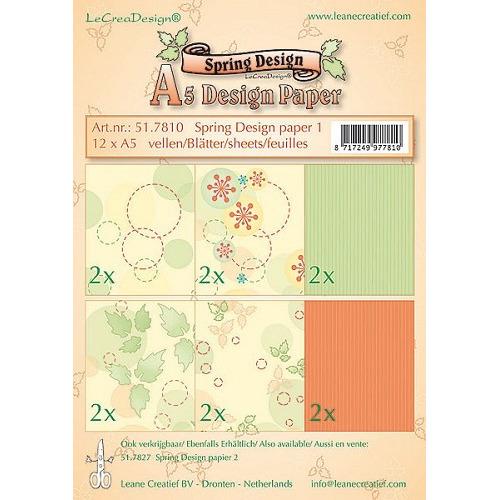 Leane Creatief A5 Spring Design Paper-1, 12 vel