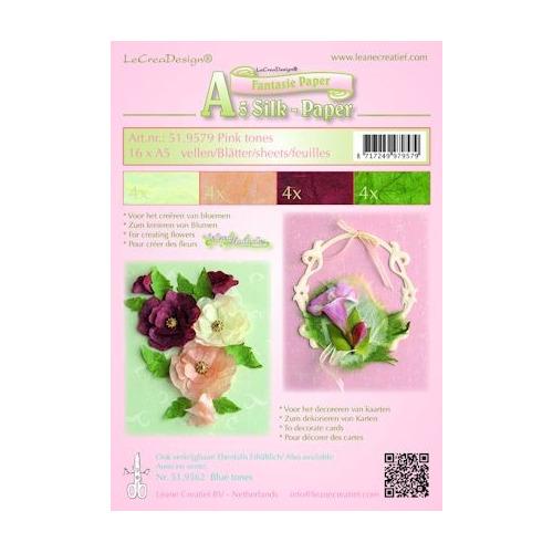 Silk papier ass A5 pink tones