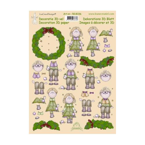 knipvel A4 Christmas Bambinie's