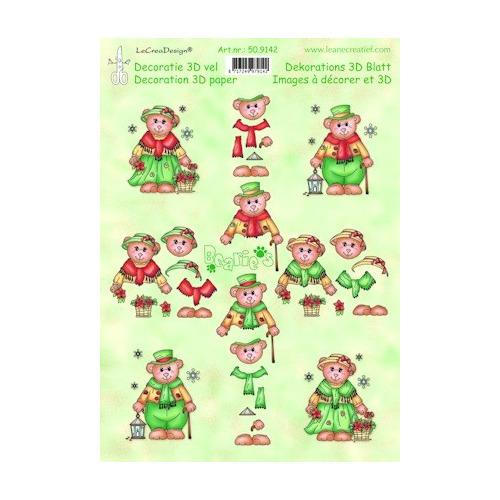 knipvel A4 Bearie's Christmas