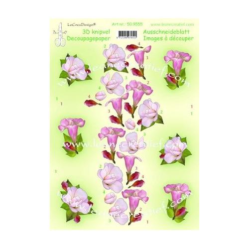 knipvel A4 flowers