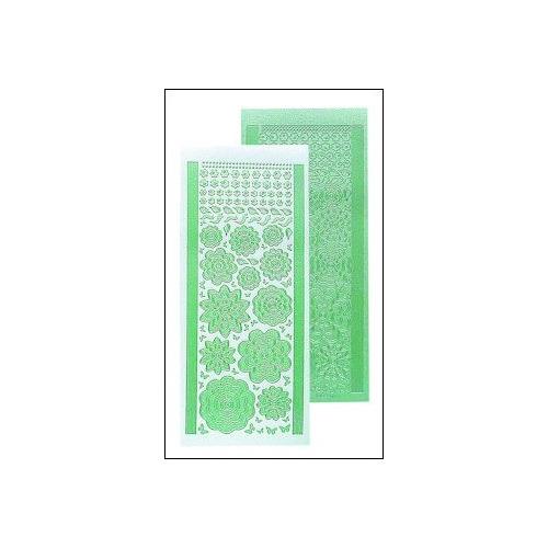 LeCreaDesign bloem stickers - pearl green