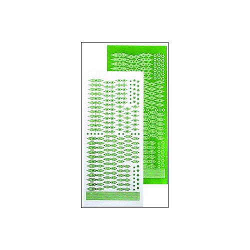 LeCreaDesign star stickers green mirror