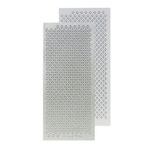 Le Crea Design ruitjes stickervel zil