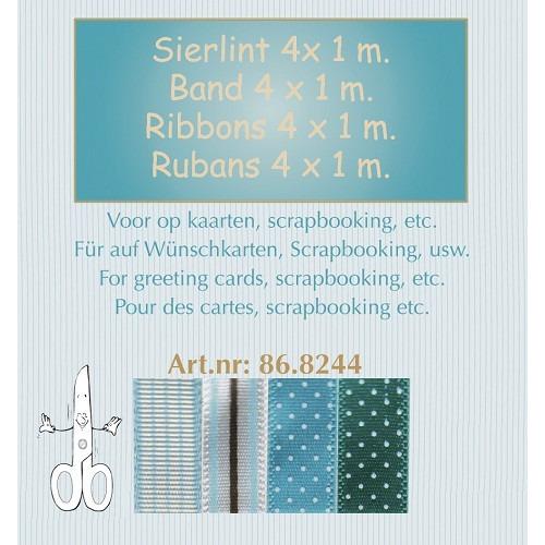 Sierlint ass. 4x1 mm - blauw