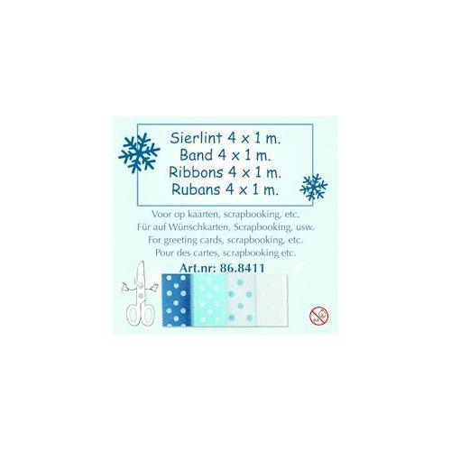 Lint assortiment winter blauw-wit 2