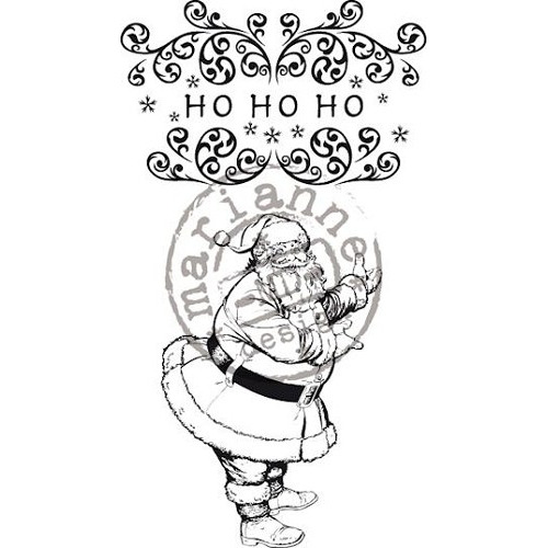 Clear stamp vintage ho ho ho #JUL13