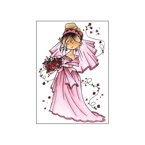 HM Clear Stamp Here comes the bride #FEB14