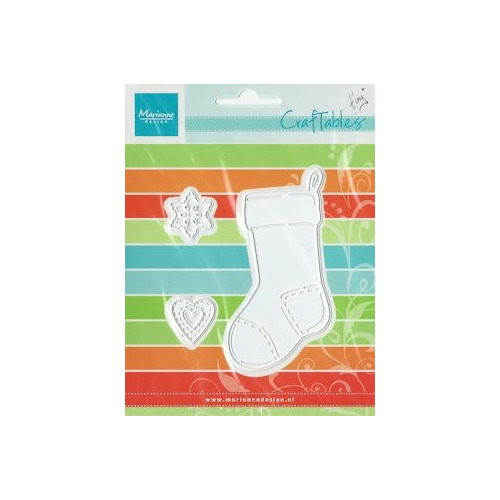 Craftables stencil Tiny`s christmas socking #SEP13