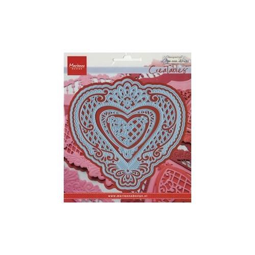 Creatables stencil Anja`s filigraan heart #FEB14