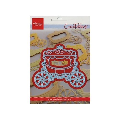 LR0302 Creatables stencil princess carriage #MRT14