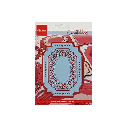 Creatables stencil oval lable #APR14