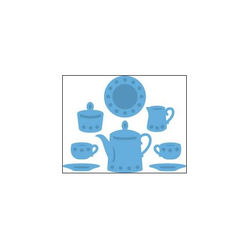 LR0315 Creatables stencil tea for two #MEI14
