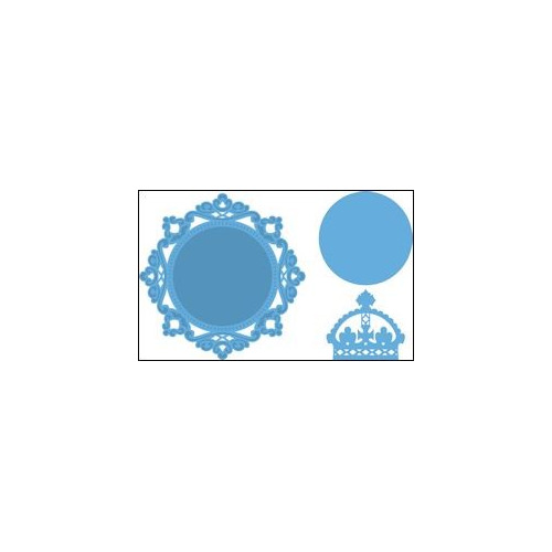 Creatables stencil Petra's circle and crown #JUN14