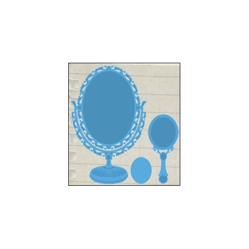Creatables stencil vintage mirror #JUL14