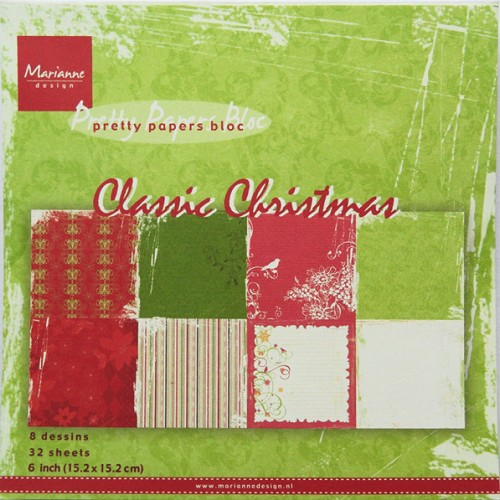 Marianne Design Paper pad - Classic Christmas #sep14