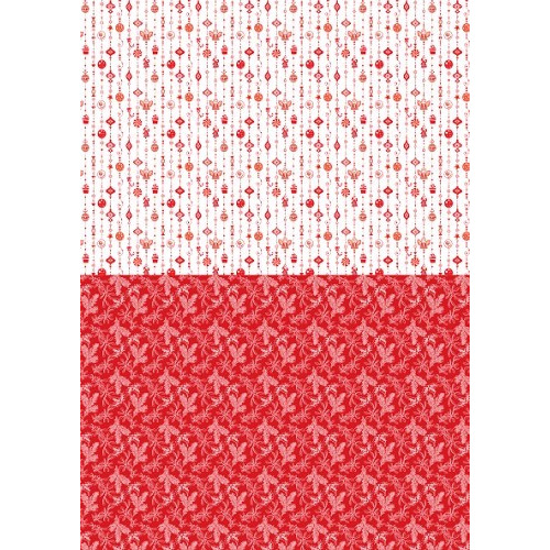 Background sheets A4 Christmas red ornaments