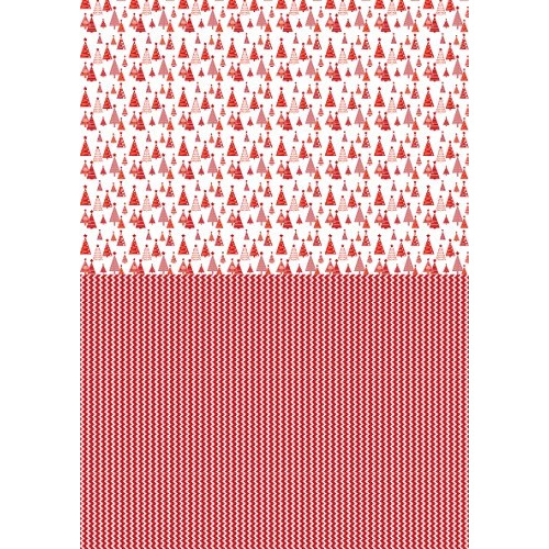 Background sheets A4 Christmas red Christmas tree-2