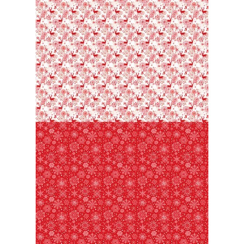 Background sheets A4 Christmas red Reindeer