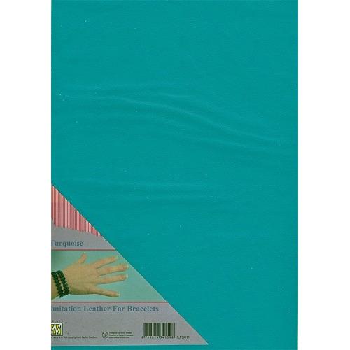 A4 Imitatie leer ILFB011 turquoise