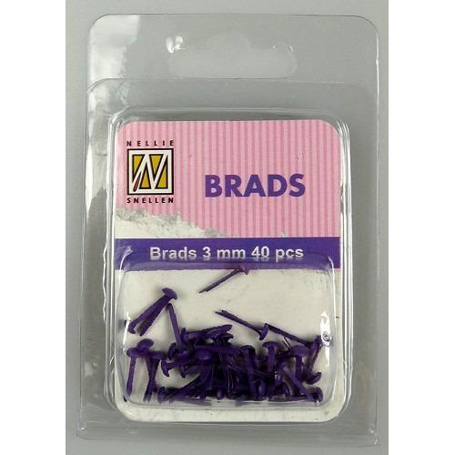 Floral brads - Purple