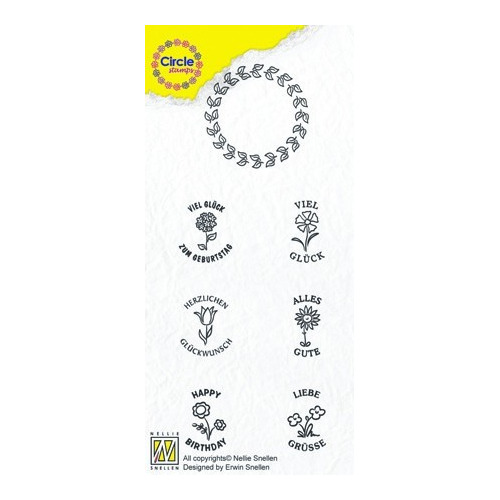 Circle clear stamps Congratulations-serie German Texts