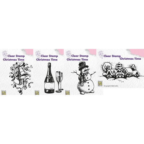 Nellie Snellen Stamp - Christmas Time Set