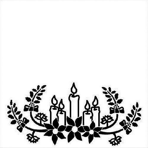 Embossing Folder 130x130mm - Christmas candles